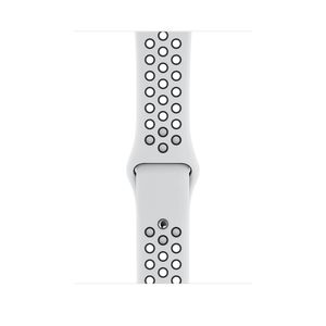 APPLE Watch Nike Sport Band 44mm PurePlatinum/ Sort Nike Sport Band S/M&M/L 44mm (MTMY2ZM/A)