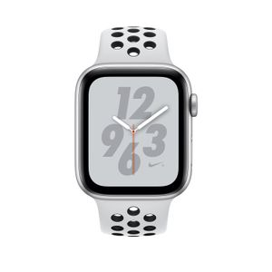 APPLE Watch Nike+ Series 4 GPS + Cellular 44mm Silver Aluminium Case with Pure Platinum/ Black Nike Sport Band (MTXK2KS/A)