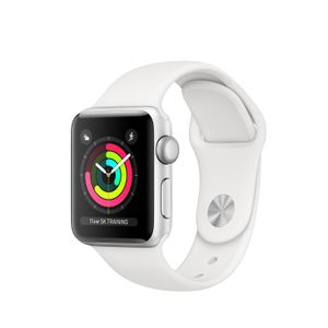 APPLE Watch Series 3 GPS 38mm Silver Aluminium Case, White Sport Band (MTEY2DH/A)