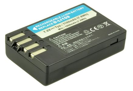 2-POWER Digital Camera Battery 7.4v 1050mAh Tilsvarende D-LI109 (DBI9958A)