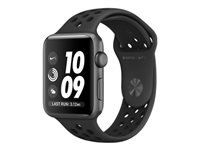 APPLE WATCH NIKE+ SERIES 3 GPS 42MM SPACEGREY ALUM BLK NIKE BND      IN CONS (MTF42FS/A)