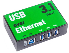 Deltaco 3-Port USB 3.1 over Ethernet Hub