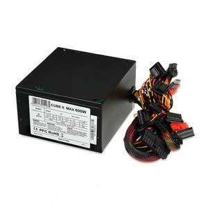 IBOX POWER SUPPLY I-BOX CUBE II ATX 600W APFC 12 CM FAN BLACK EDITION (ZIC2600W12CMFA)