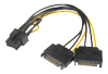 AKASA SATA power to 6+2pin PCIe (AK-CBPW19-15)