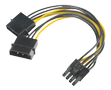 AKASA 4pin Molex to 6+2pin PCIe adapter