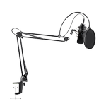 MAONO USB Podcasting Microphone kit, 16mm microphone,  arm with mount,