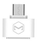 MCDODO compact MicroUSB to USB-A AF adapter, multi purpose, white