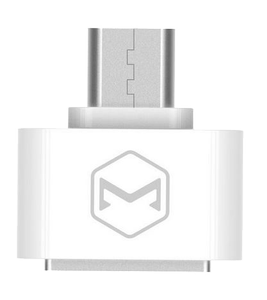 MCDODO compact MicroUSB to USB-A AF adapter, multi purpose, white (OT-0971)
