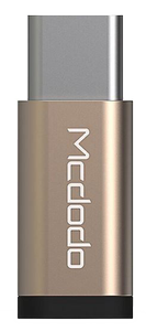 MCDODO compact MicroUSB to USB-C adapter, gold (OT-2150)