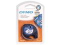 DYMO Letratag Plastic tape white 12mm x 4m            91221