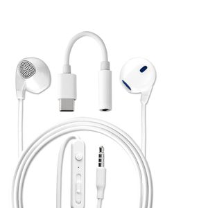 4smarts In-ear headset 3,5 mm jack og USB-C Hvid (468522)