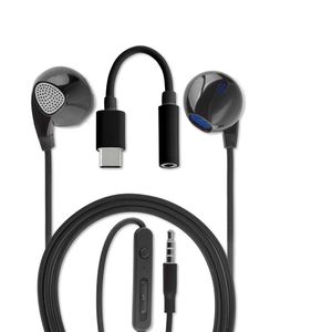 4smarts In-ear headset 3,5 mm jack og USB-C Sort (468523)