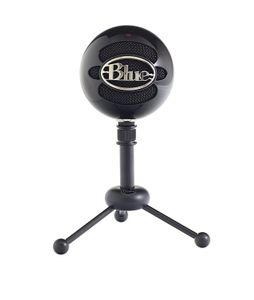 BLUE Microphones Snowball Gloss BlackProfessional quality USB mic, with tripod and USB cable, Gloss Black finish (1912)