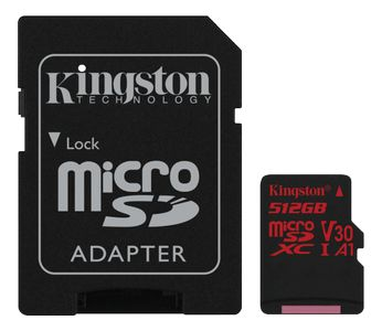 KINGSTON 512GB microSD Canvas React _ SD adapter (SDCR/512GB)