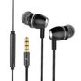 KSIX Go&Play Sky, Aluminium Black Stereo in ear, w/Microphone