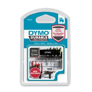 DYMO D1 tape Extra Strong 12mmx3m white/ black (1978365)