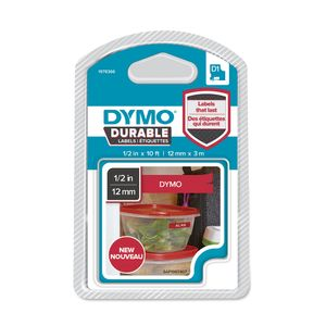 DYMO D1 tape Extra Strong 12mmx3m white/red (1978366)