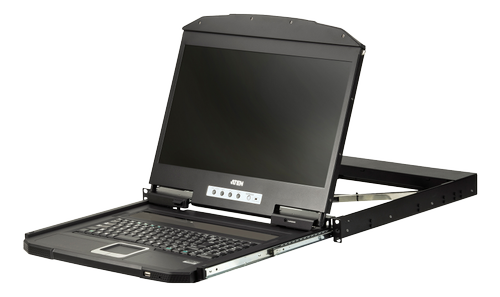 "ATEN Rack Konsoll 19"" Slideaway USB/& HDMI Single Rail Full (CL3700NW-ATA-XG)"