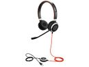 JABRA EVOLVE 40 UC Stereo USB Headband Noise cancelling USB connector with mute-button and volume control on the cord