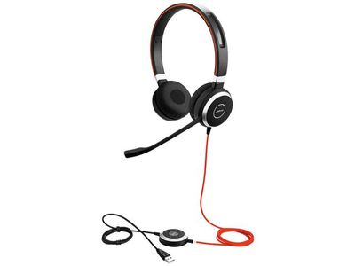 JABRA EVOLVE 40 UC Stereo USB Headband Noise cancelling USB connector with mute-button and volume control on the cord (6399-829-209)
