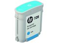 HP INK CARTRIDGE NO 728 CYAN 40ML SUPL