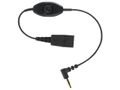 JABRA LINK Mobile QD to 3.5mm w. PTT