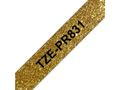 BROTHER Tapes TZePR831 12mm Gold/ Black