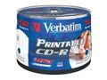 VERBATIM CD-R 700MB 52X Wide Print, 50 stk