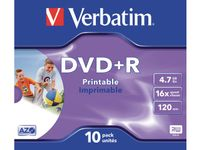 VERBATIM DVD+R/ 4.7GB 16x AdvAZO JC 10pk Photo Prt (43508)