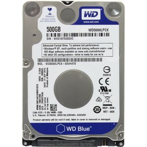 WESTERN DIGITAL HDD Mob Blue 500GB 2.5 SATA 6Gbs 8MB (WD5000LQVX)