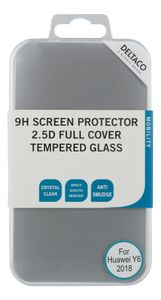 DELTACO Huawei Y6( 2018) 2.5D full screen coverage glass (SCRN-1007)