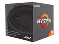 AMD Ryzen 5 2600 with Wraith Stealth - Pinnacle Ridge CPU - 3.4 GHz - Socket AM4 - 8 kerner -  Boxed (PIB - med køler)