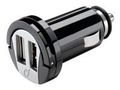 CELLULAR LINE DUAL USB MICRO CAR CHARGER BLACK