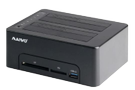 """DELTACO 2bay USB3.0 HDD docking support  both 2.5"""" and 3.5"""" SATA HDD/SSD (K3082CR)"""