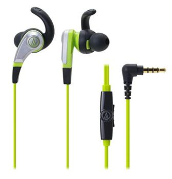Audio-Technica earphones with In-line Mic (AT-ATHCKX5iSGR)