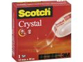 SCOTCH Tejp crystal SCOTCH m.hållare 10mx12mm