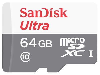 SANDISK Ultra Android microSDXC 64GB 80MB/s Class 10 (SDSQUNS-064G-GN3MN)