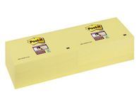 Notes Post-it 655S Super Sticky Gul 76x127mm