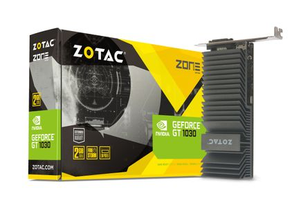 ZOTAC GeForce GT 1030 ZONE Edition Low Profile, 2GB GDDR5, DVI-D, HDMI 2.0b (ZT-P10300B-20L)