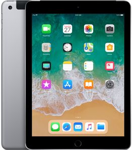 "APPLE iPad 9.7"" 128GB Cell Grå WiFi+Cell,  9.7"" FHD retina-skjerm,  8MP/1.2MP Kamera, iOS 11 (6th gen) (MR722KN/A)"