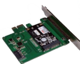 DELTACO PCI e card support mini SATA SSD to 6Gbps