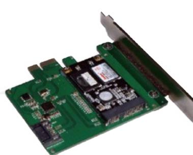 DELTACO PCI e card support mini SATA SSD to 6Gbps (KCSSD1)
