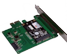 DELTACO mSATA SSD PCIe expansion card, 6 Gbps, green