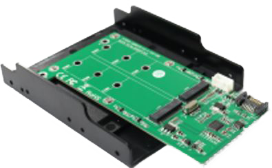 DELTACO SATA TO 2xM.2 SATA SSD Convertor with tray design SupportM.2(NGFF) SA (KT022B)