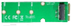DELTACO mSATA to M.2 adapter card, B-Key, 2280, green