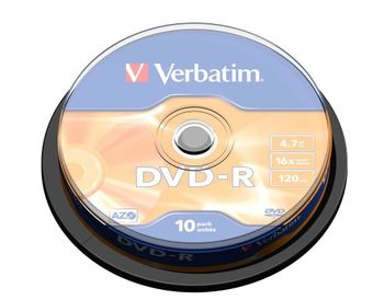 VERBATIM DVD-R Verbatim 4.7Gb 16x spindle (10) (43523)