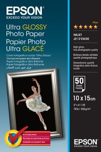 EPSON S041943 Ultra glossy photo paper inkjet 300g/m2 100x150mm 50 sheets 1-pack (C13S041943)