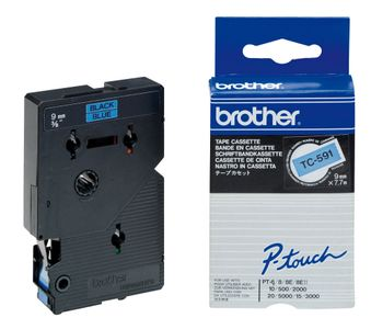 BROTHER Tape/9mm black on blue (TC591)