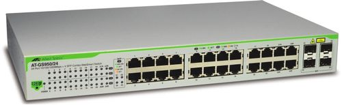 Allied Telesis 24 port 10/ 100/ 1000TX WebSmart switch with 4 SFP bays (Eco version) (AT-GS950/24-50)