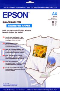 EPSON S041154 Iron-on-transfer paper 120g/m2 A4 10 sheets 1-pack (C13S041154)